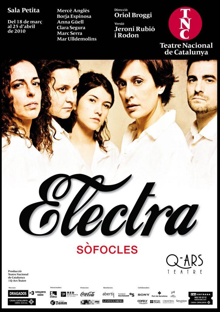 Q-ars Teatre, Cartell d'Electra, Sòfocles, Teatre Nacional de Catalunya, Oriol Broggi