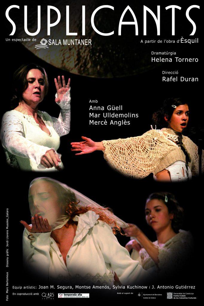 Q-ars Teatre, Cartell de Suplicants, Èsquil, Anna Güell, Mercè Anglès, Mar Ulldemolins, Rafel Duran, Helena Tornero