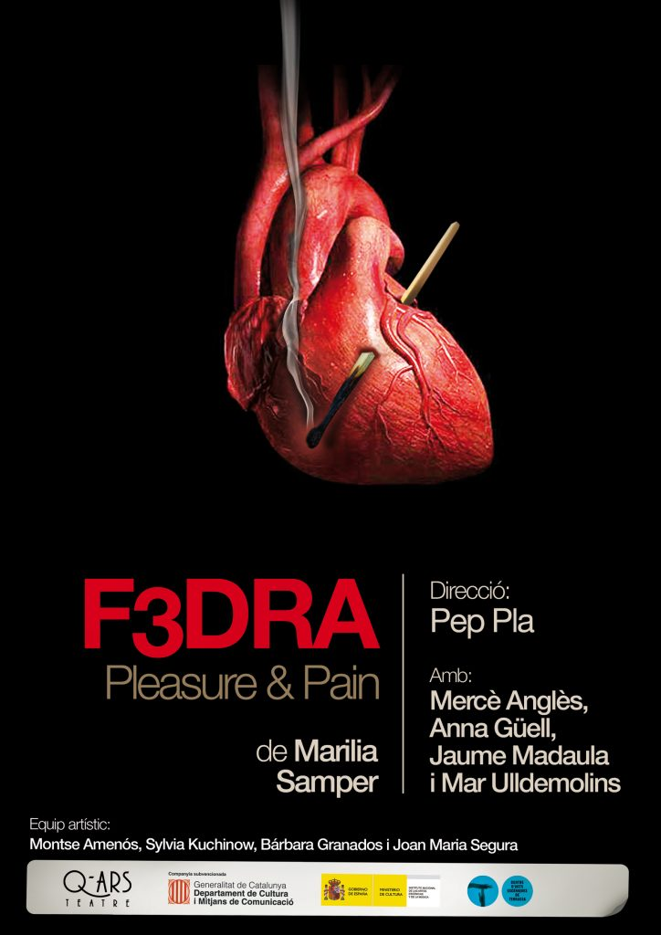 Q-ars Teatre, Cartell de F3DRA, Marilia Samper, Sala Beckett