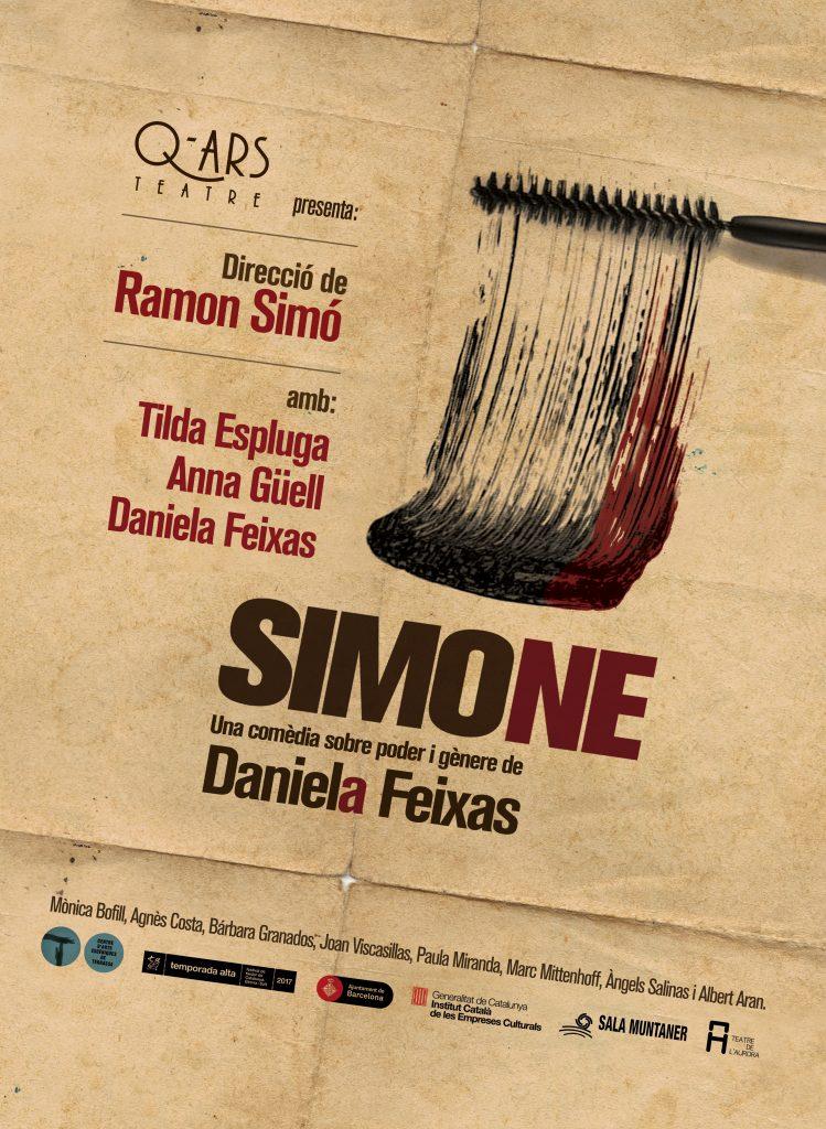 Q-ars Teatre, Cartell de Simone, Daniela Feixas, Ramon Simó, Tilda Espluga, Anna Güell